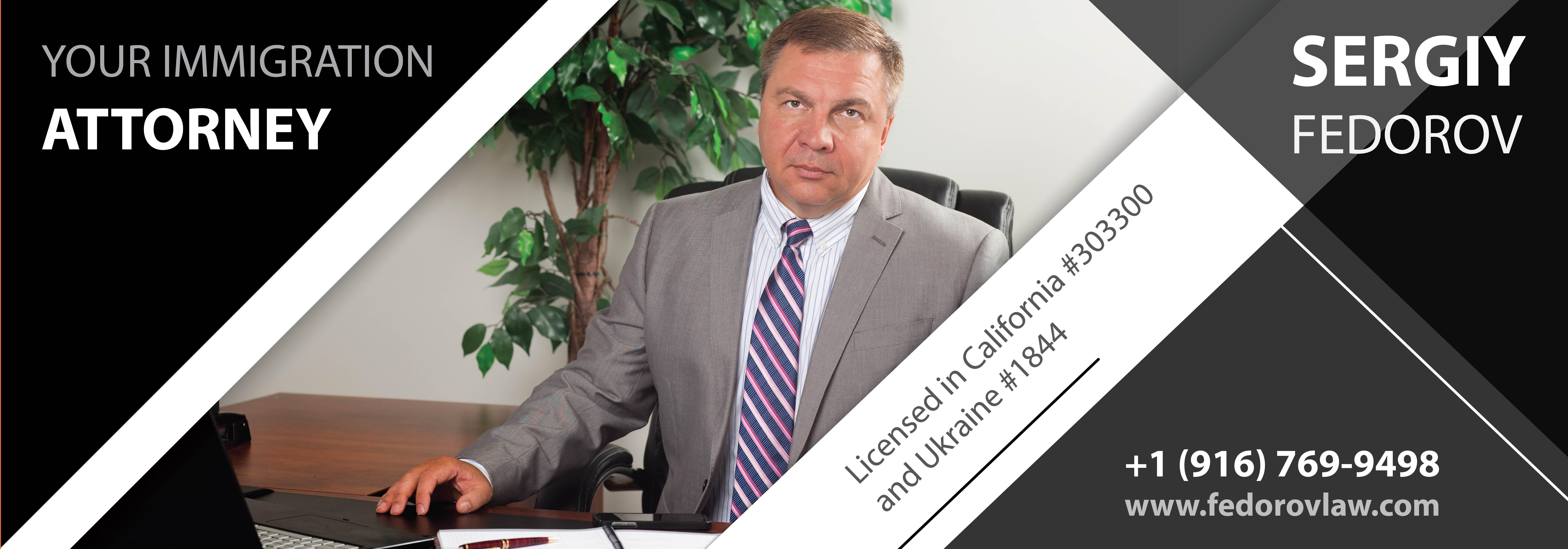 Sergiy Fedorov, business attorney in Sacramento, California