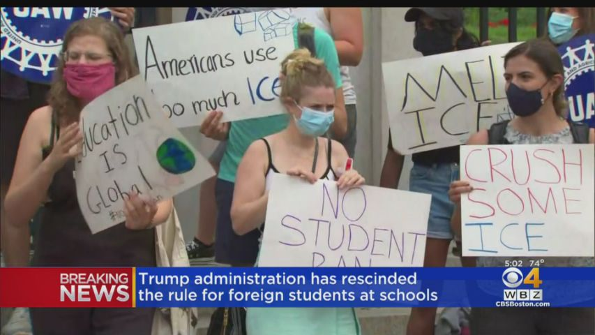 Trump administration rescinds foreign students rule